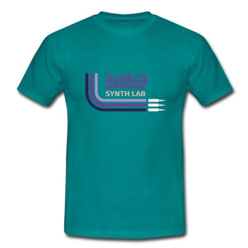 DKS SYNTH LAB Curved Purple - Maglietta da uomo