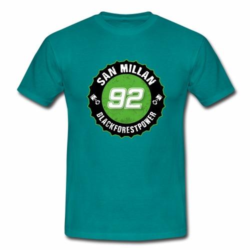 San Millan Blackforestpower 92 rund - schwarz - Männer T-Shirt