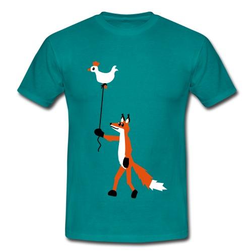 Fuchs und Henne - Männer T-Shirt