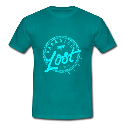 Paradise Lost Ibiza - Acid Blue Logo - Men's T-Shirt