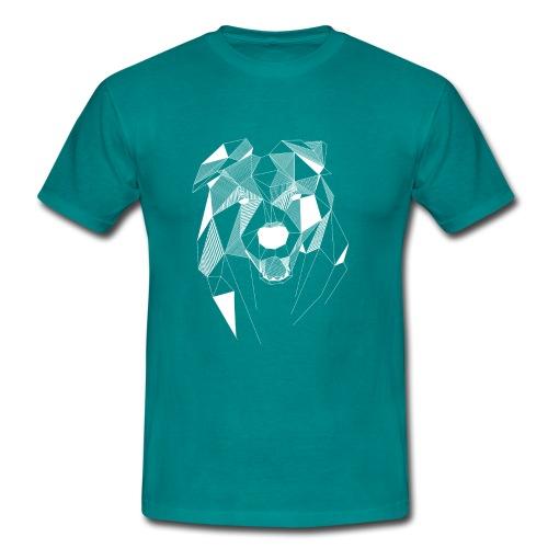BorderCollie wit - Mannen T-shirt