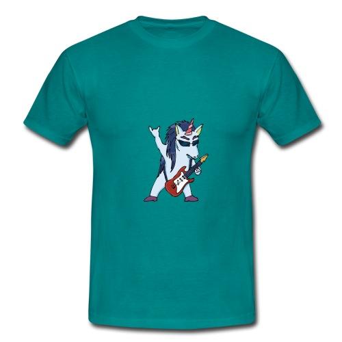 Licorne guitare metal couleur sans fond - T-shirt Homme