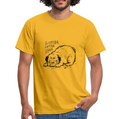 Living on the edge BLACK - Men's T-Shirt