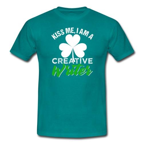 Kiss Me I Am A Creative Writer - Männer T-Shirt