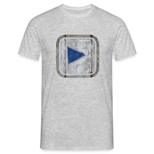 hier entlang ! - Männer T-Shirt
