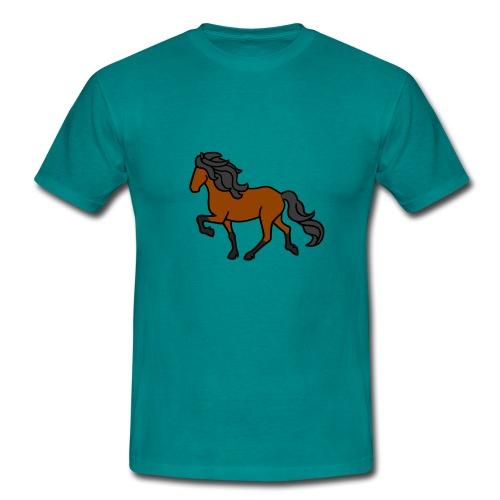 Islandpferd, Brauner, heller - Männer T-Shirt
