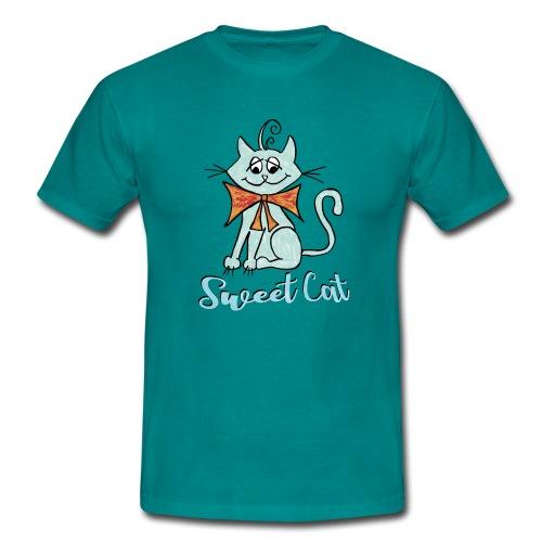 Katze blau Sweet - Männer T-Shirt