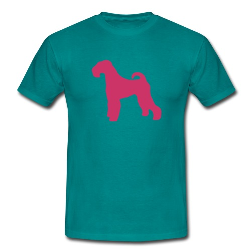 PINK Airedale Terrier - Men's T-Shirt