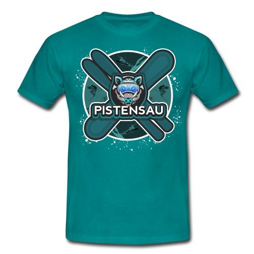 PistenSau Nervenkitzeljägergrün - Männer T-Shirt