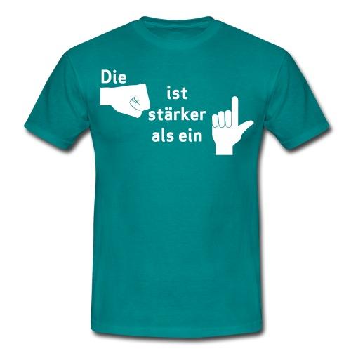 Faust vs. Finger 1 - Männer T-Shirt