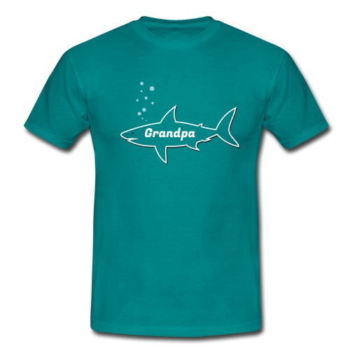 Grandpa shark - Fathers day gift - matching outfit - Männer T-Shirt