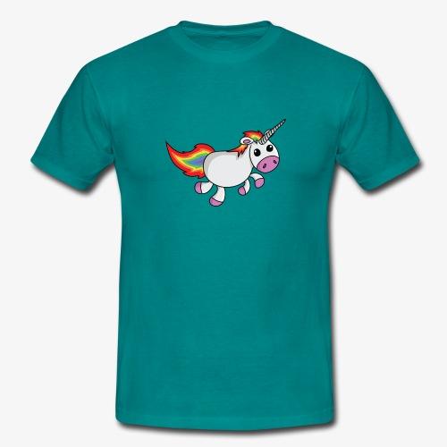 unicorn4 png - Mannen T-shirt