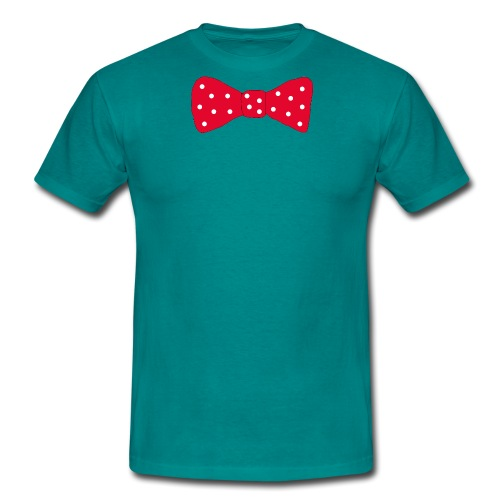 Bow tie Red with White Dots - T-shirt herr