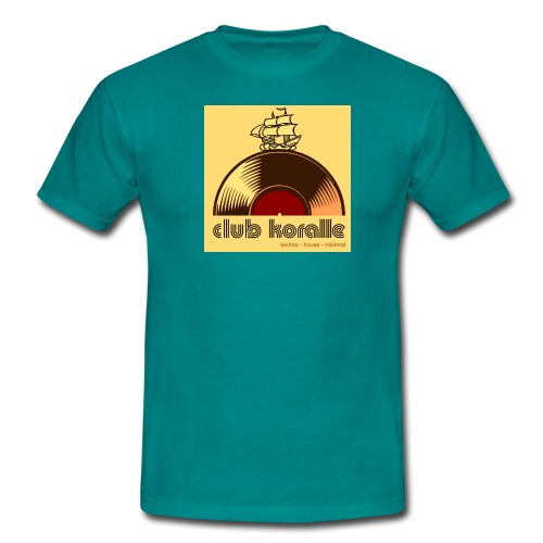 Koralle_ logo groß beige - Männer T-Shirt