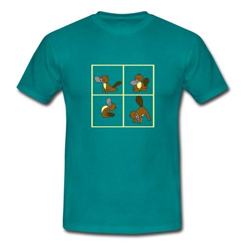 ornithorynque fait du yoga - T-shirt Homme
