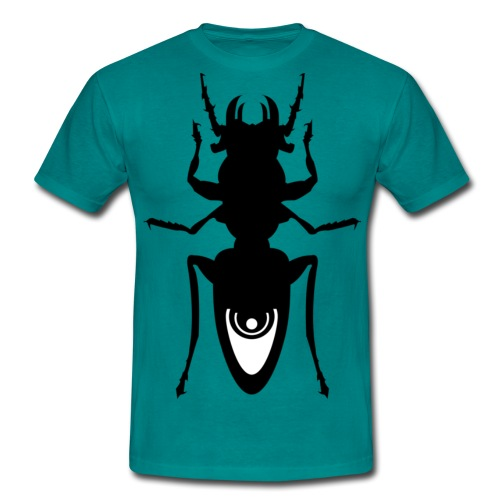 Meta4 Bug Black Bug, White Detail - Men's T-Shirt