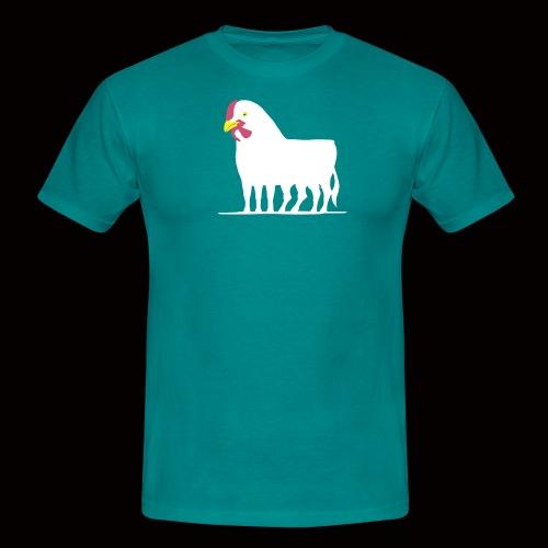 huhnerstierweiss - Männer T-Shirt