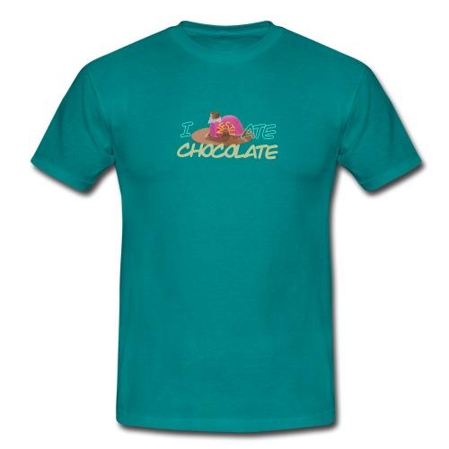 I hate chocolate - Herre-T-shirt