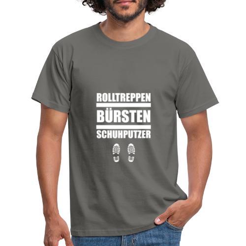 Rolltreppenbürstenschuhputzer - Männer T-Shirt