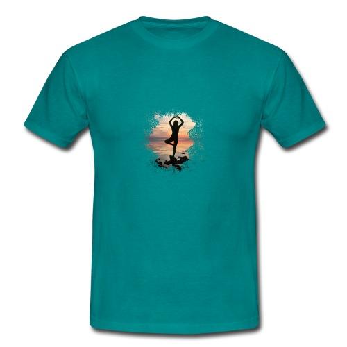 Sonnenuntergang Yoga - Männer T-Shirt