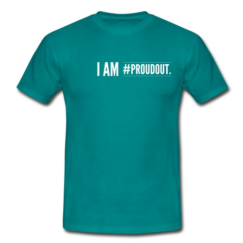 I am proudout - Männer T-Shirt