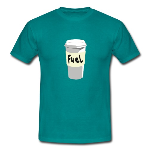 Coffee your fuel - Mannen T-shirt