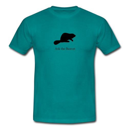 Ask the Beaver Collection [clean collection] - Männer T-Shirt