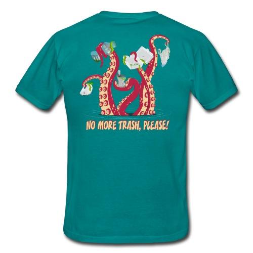 Octopus : No More trash,please! - T-shirt Homme