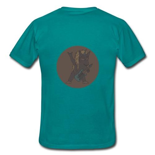 Licorne guitare metal fond marron - T-shirt Homme