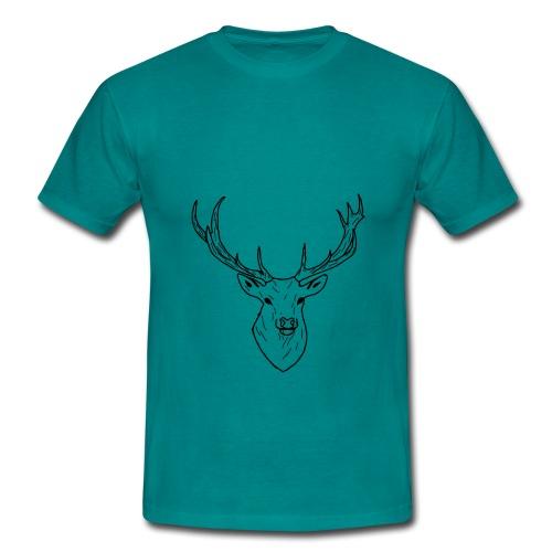 Deer White & Black - T-shirt Homme