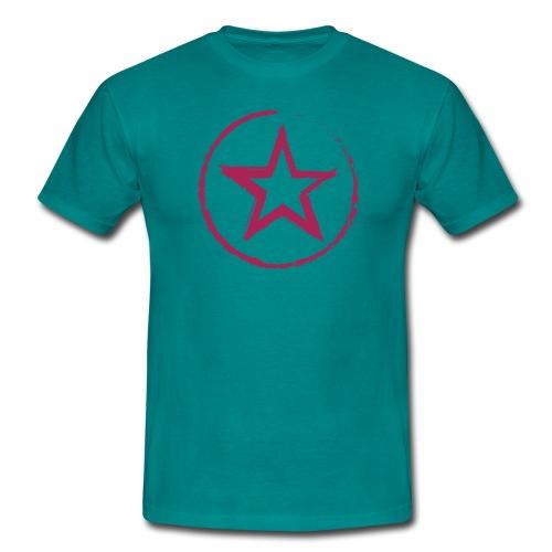 Stern mit Kreis - Männer T-Shirt