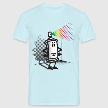 Happy paint spray - Männer T-Shirt