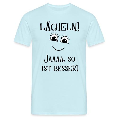 Lächeln Lachen Glückliches Gute Laune Gesicht - Männer T-Shirt