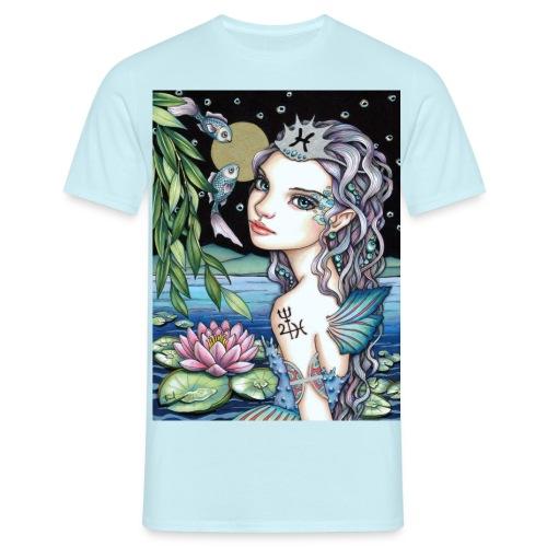 Pisces girl Fische Mädchen - Men's T-Shirt