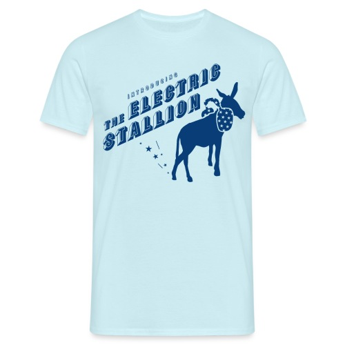 The Electric Stallion - Indigo dye - Men's T-Shirt