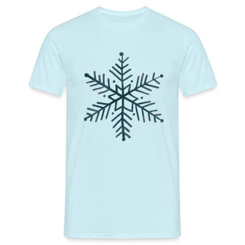 flocon de neige noir - T-shirt Homme