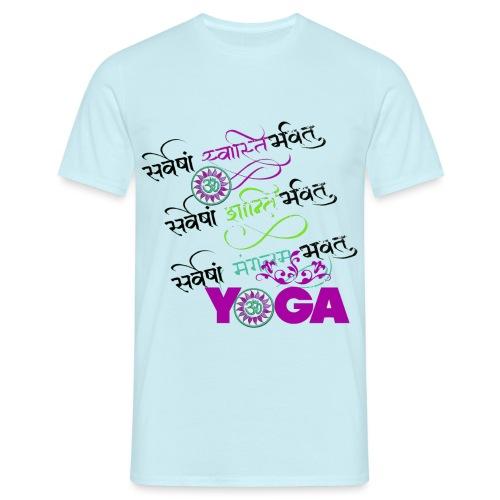 Sanskrit Yoga - Männer T-Shirt