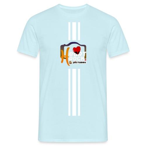 stripes02blue - Männer T-Shirt