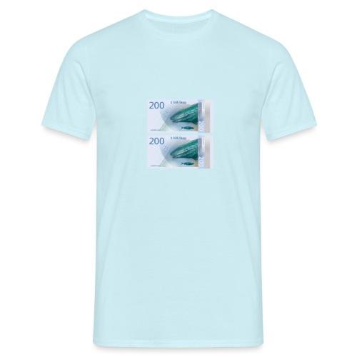 2 blå - T-skjorte for menn