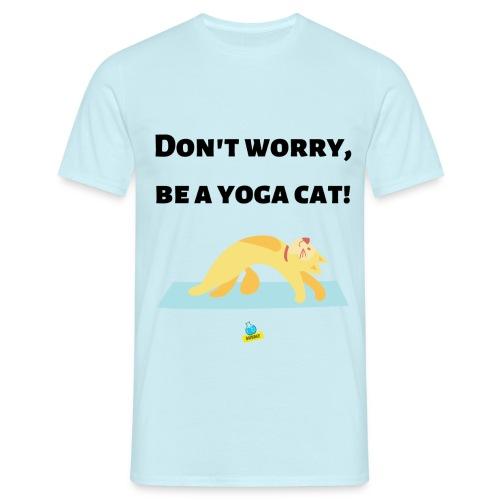 Yoga cat! - Maglietta da uomo