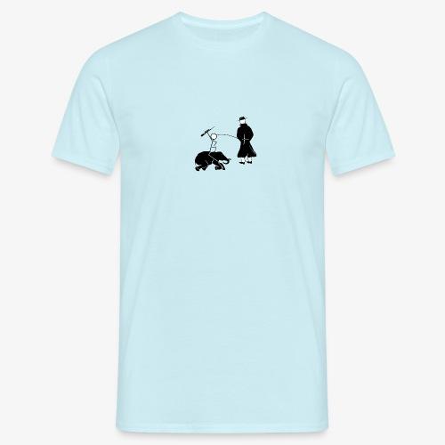 Pissing Man against hunting endangered animals - Männer T-Shirt