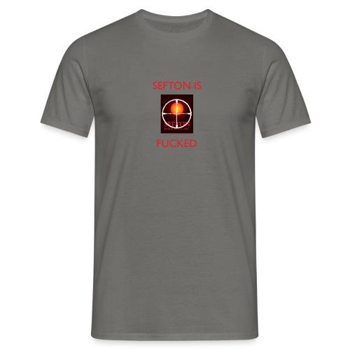 ser is fcked - Men's T-Shirt