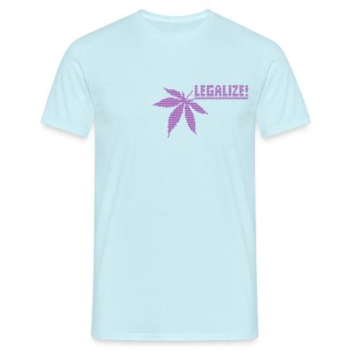 Hanfblatt-Raster (Aus Punkten) - Männer T-Shirt