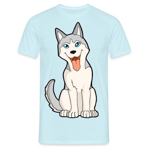 Husky grigio occhi azzurri - Maglietta da uomo