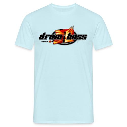 Drum´n Bass Logo in Flammen Schwarz/Rot - Männer T-Shirt