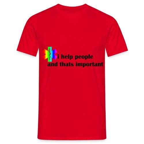 i help people - Mannen T-shirt