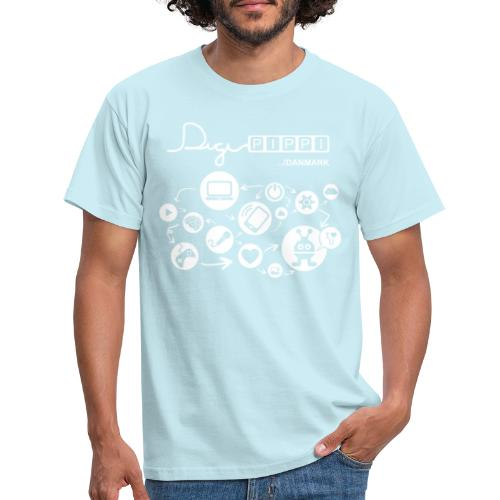 DigiPippi DK white - Herre-T-shirt