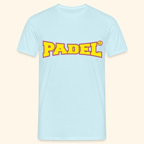 padel amarillo y morado - Camiseta hombre