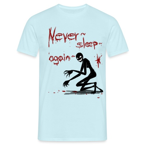 never sleep again weiß png - Männer T-Shirt
