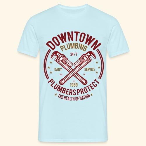 Downtown-Plumbing - Men's T-Shirt